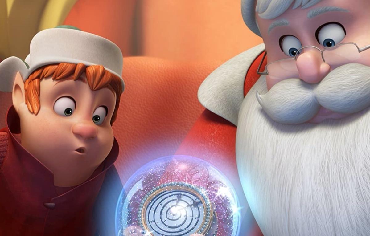 santa and elf animated movie