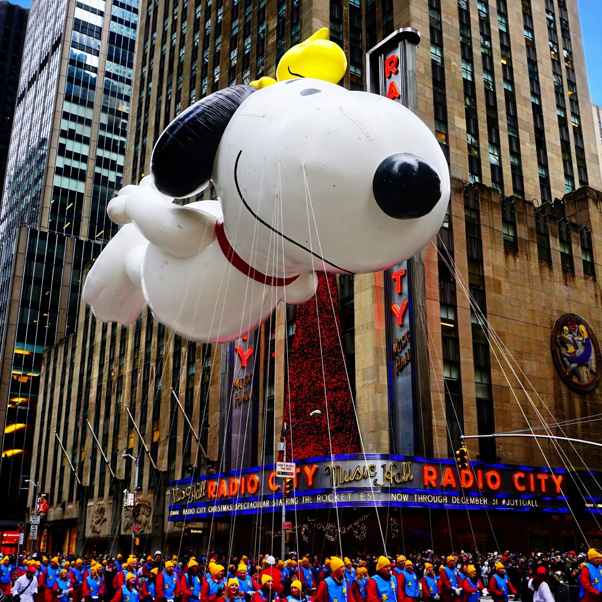 Snoopy float at the Macy's Thanksgiving Day Parade