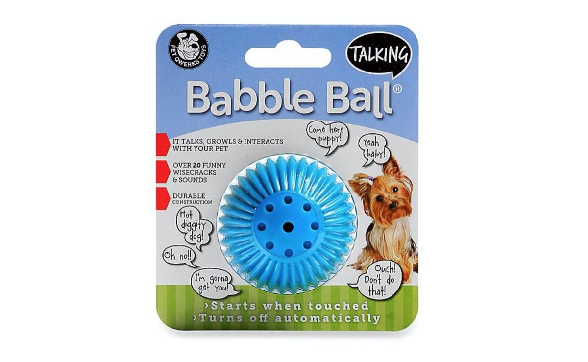 babble ball dog toy