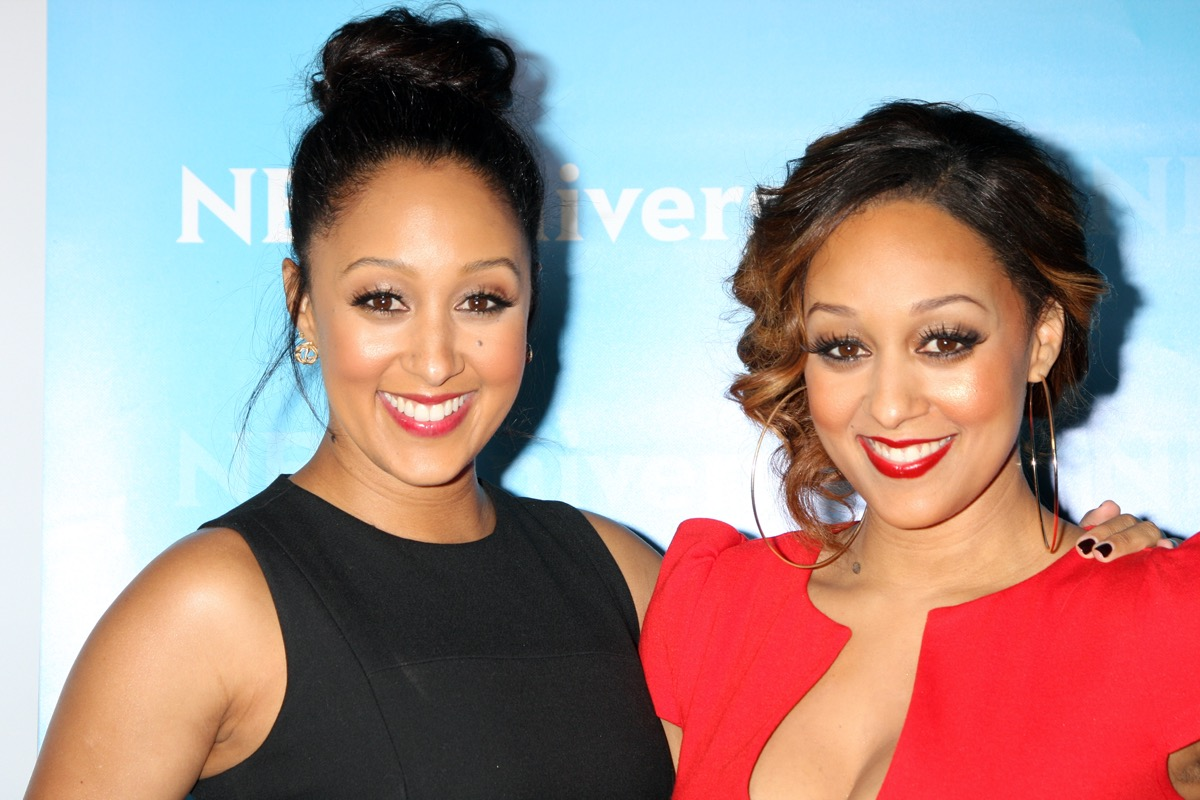 Tia and Tamera Mowry at the NBC Universal All-Star Winter TCA Party in 2012