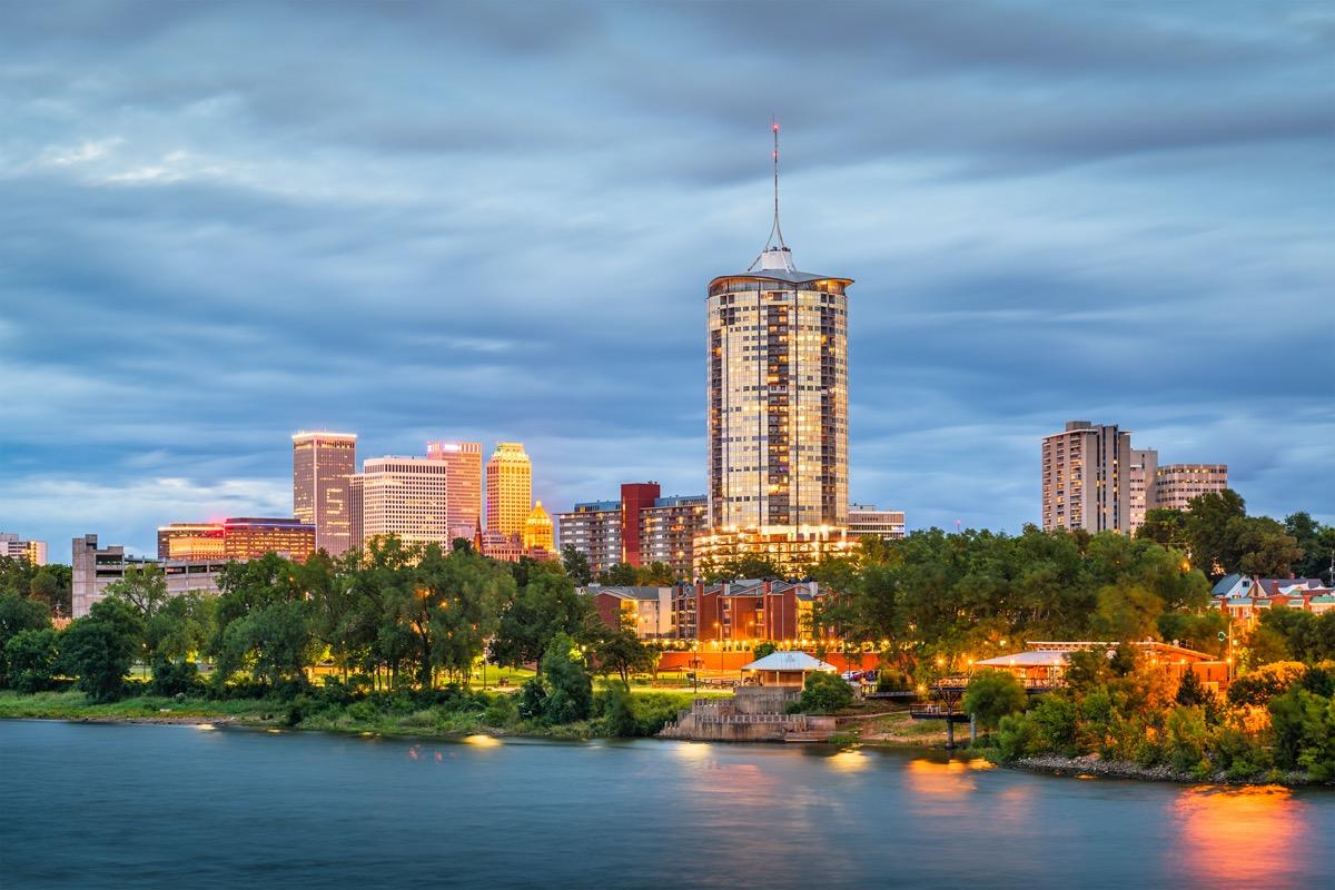 cityscape photo of Tulsa, Oklahoma at dusk