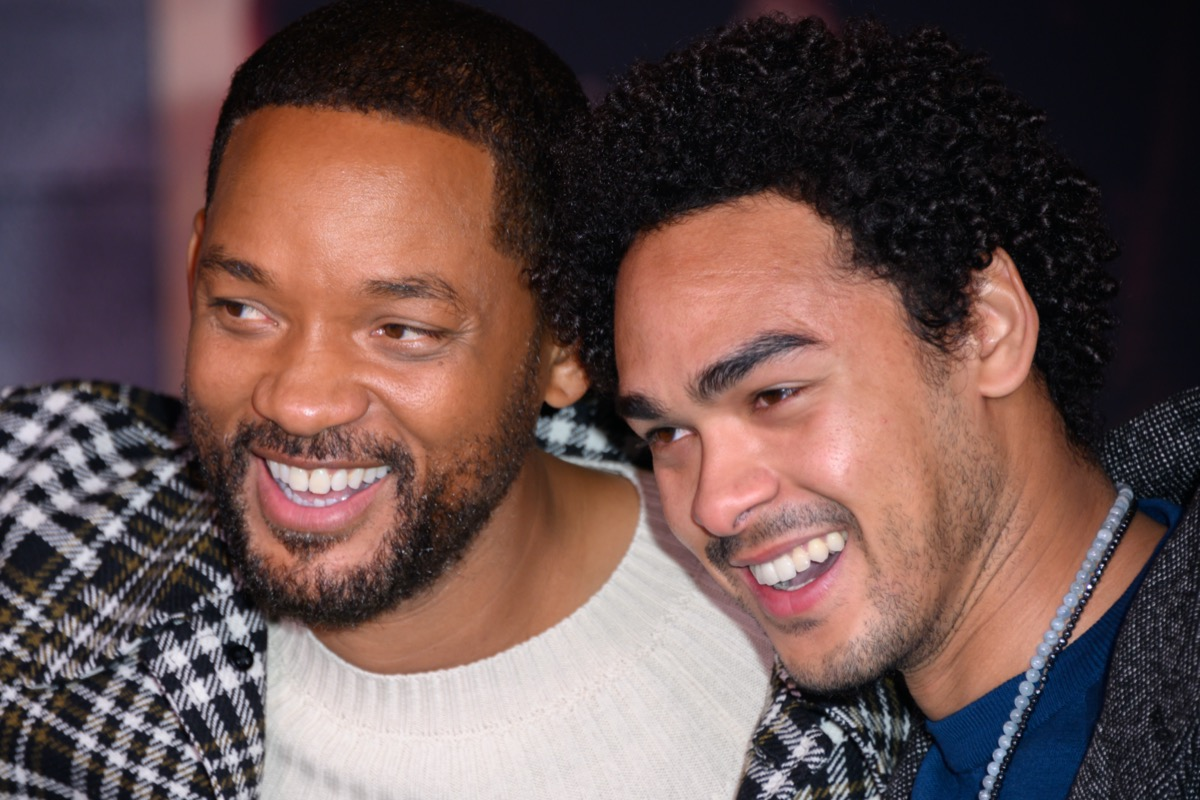 Will and Trey Smith at premiere of 'Bad Boys for Life' in 2020
