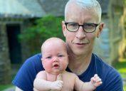 Anderson Cooper holding his son Wyatt Cooper