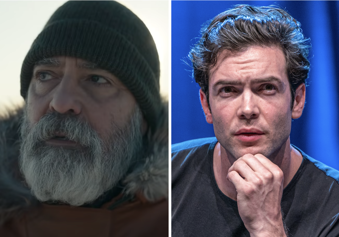 george clooney in midnight sky, with ethan peck playing young version