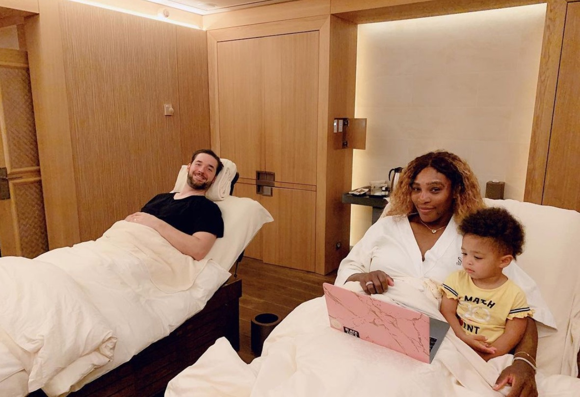 Alexis Ohanian, Serena Williams, Olympia Paris Instagram