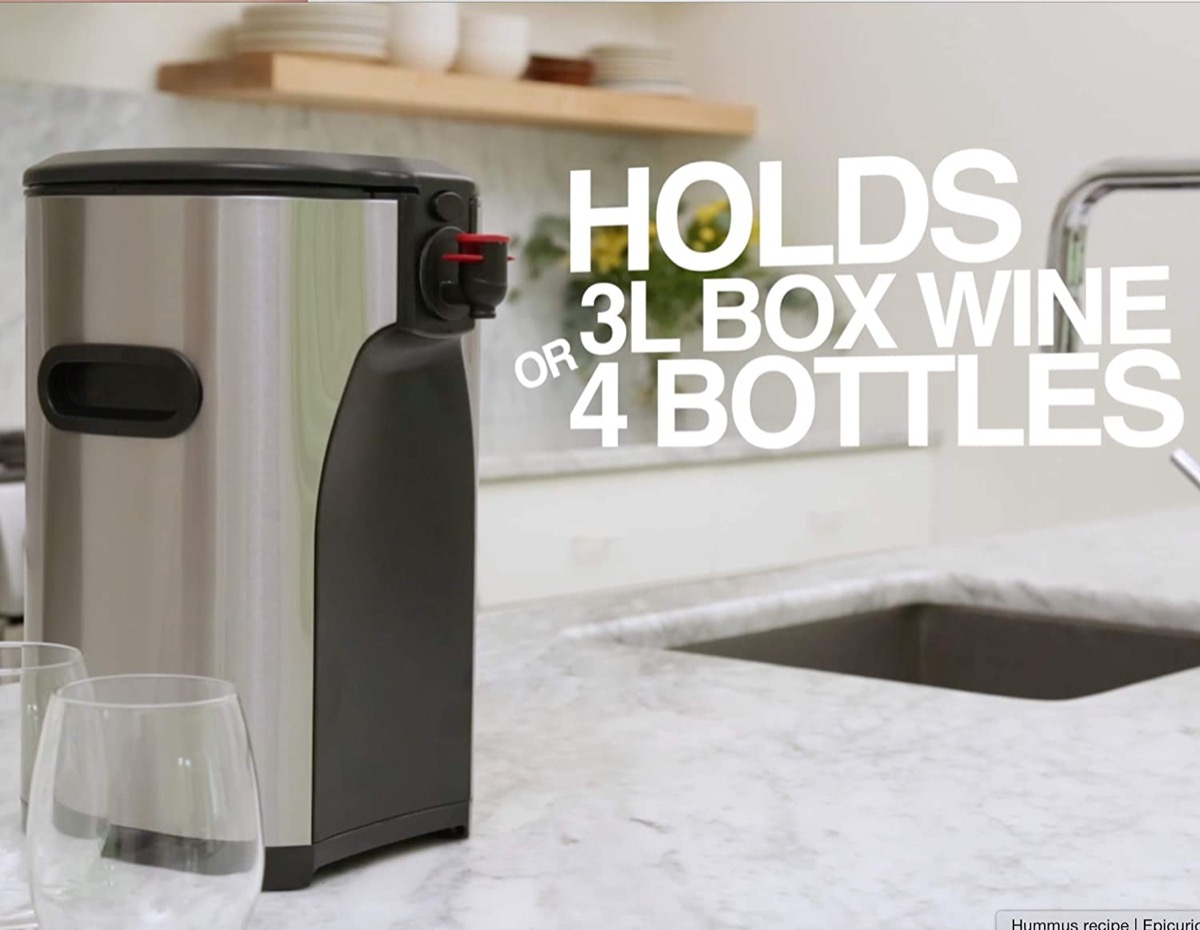 Stainless steel box wine dispenser