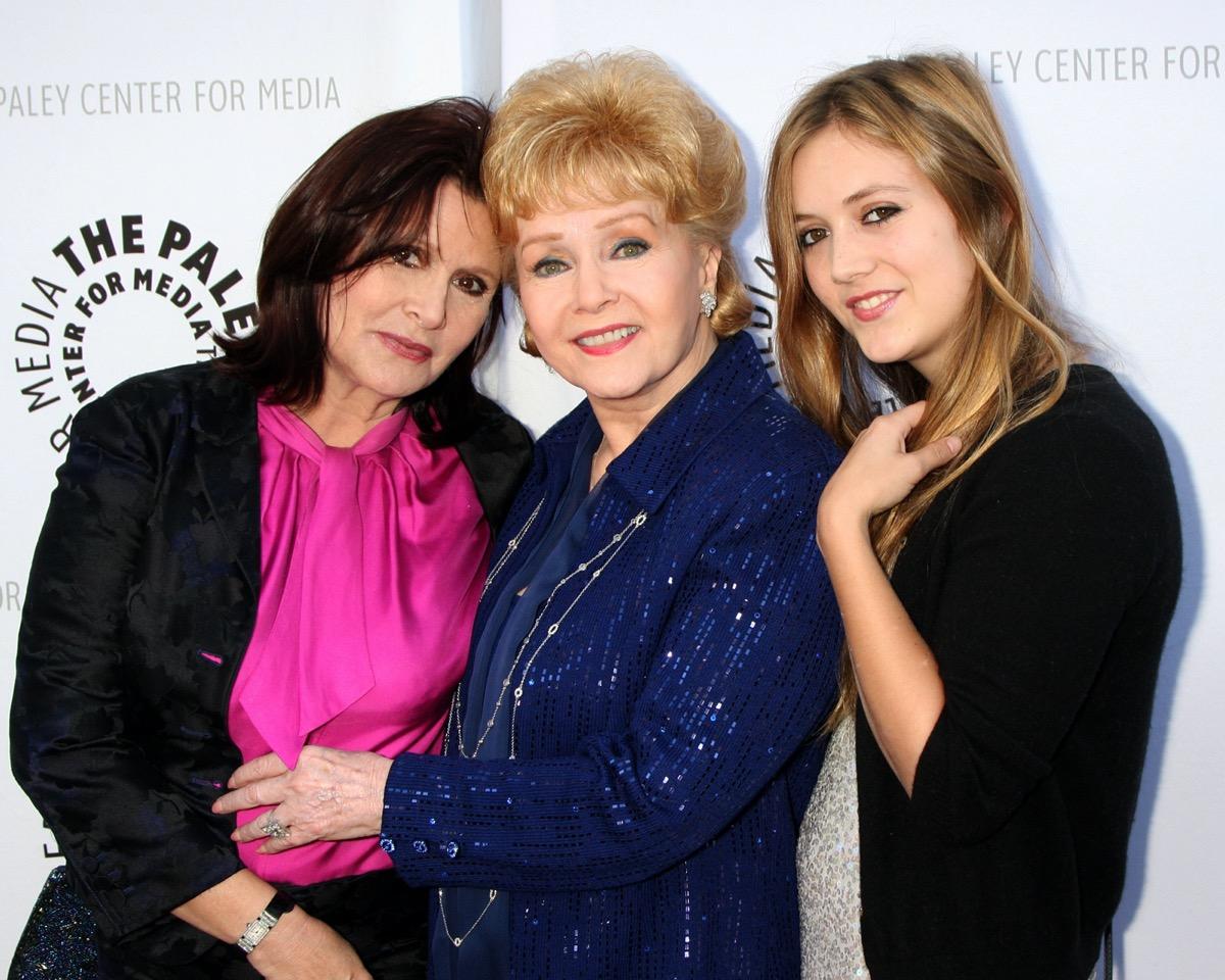 Carrie Fisher, Debbie Reynolds, and Billie Lourd