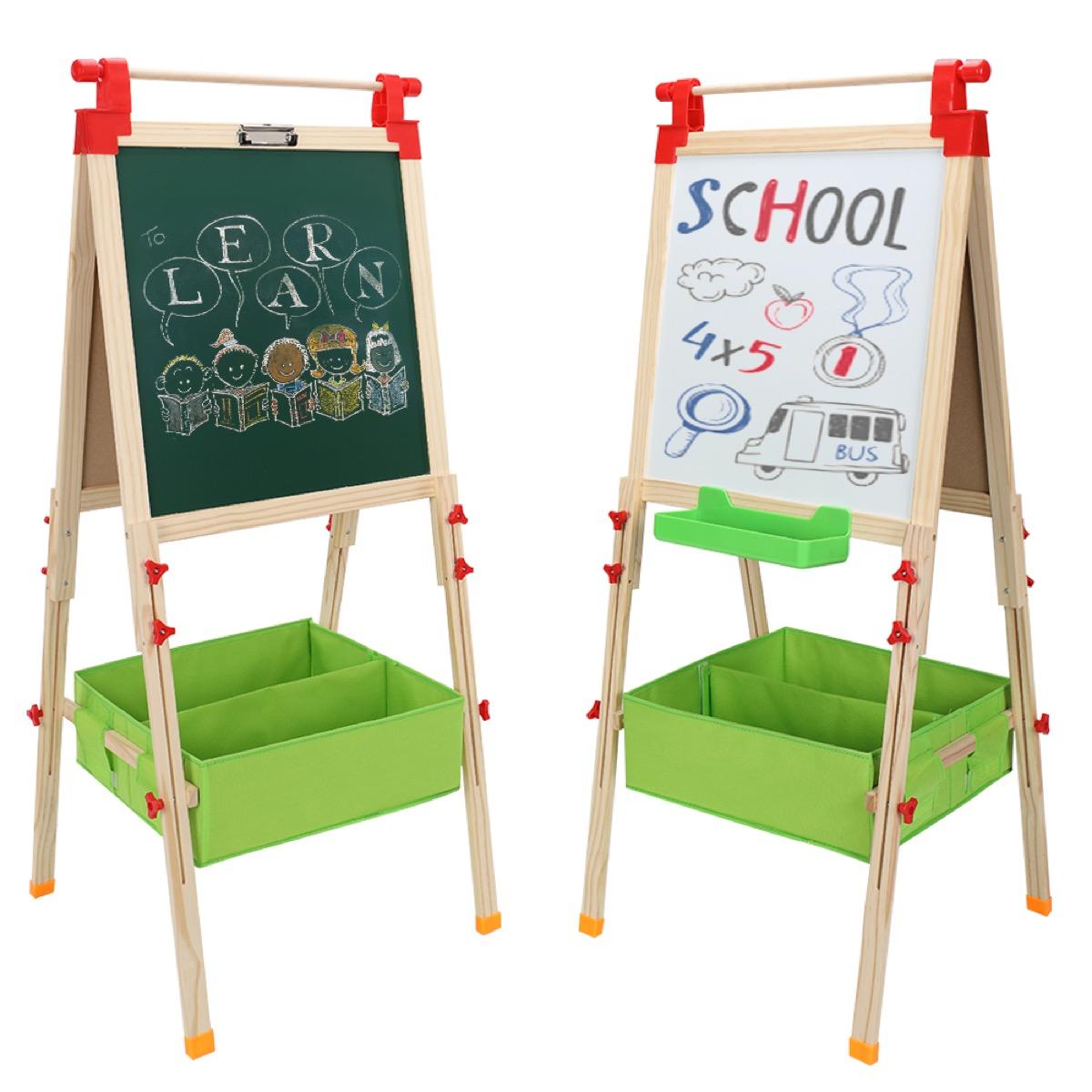Double sided school easel