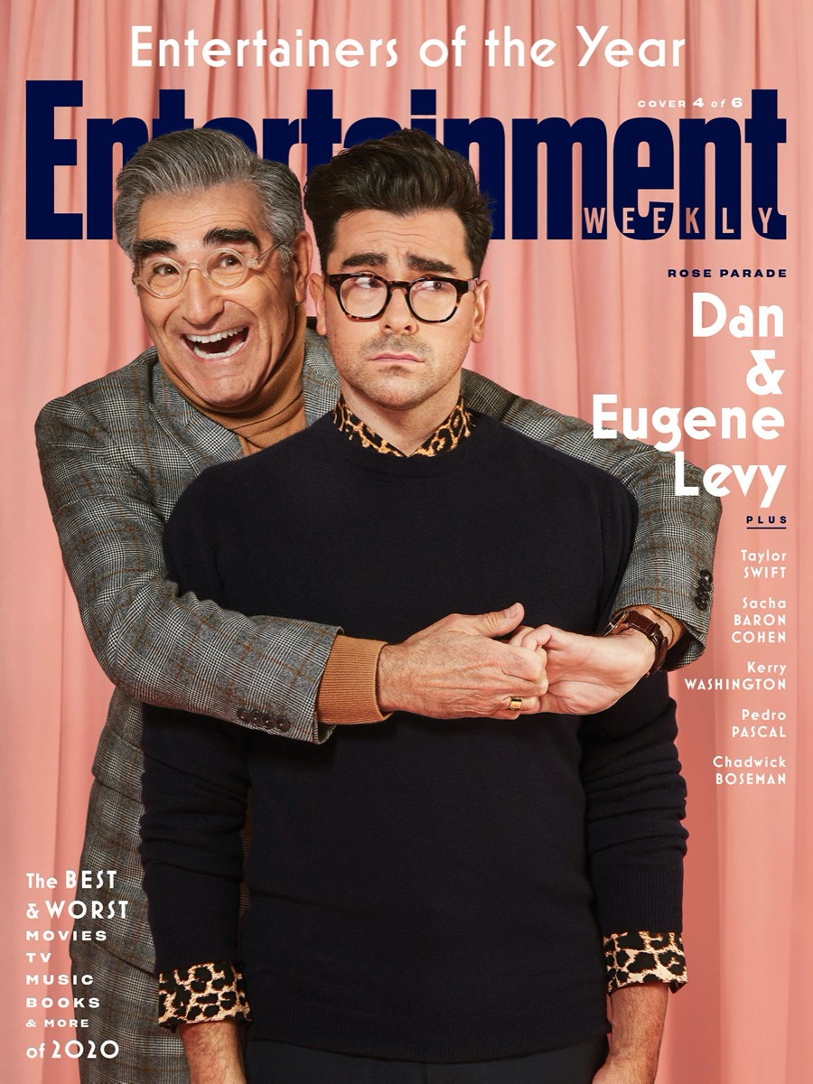 Eugene and Dan Levy Entertainment Weekly cover