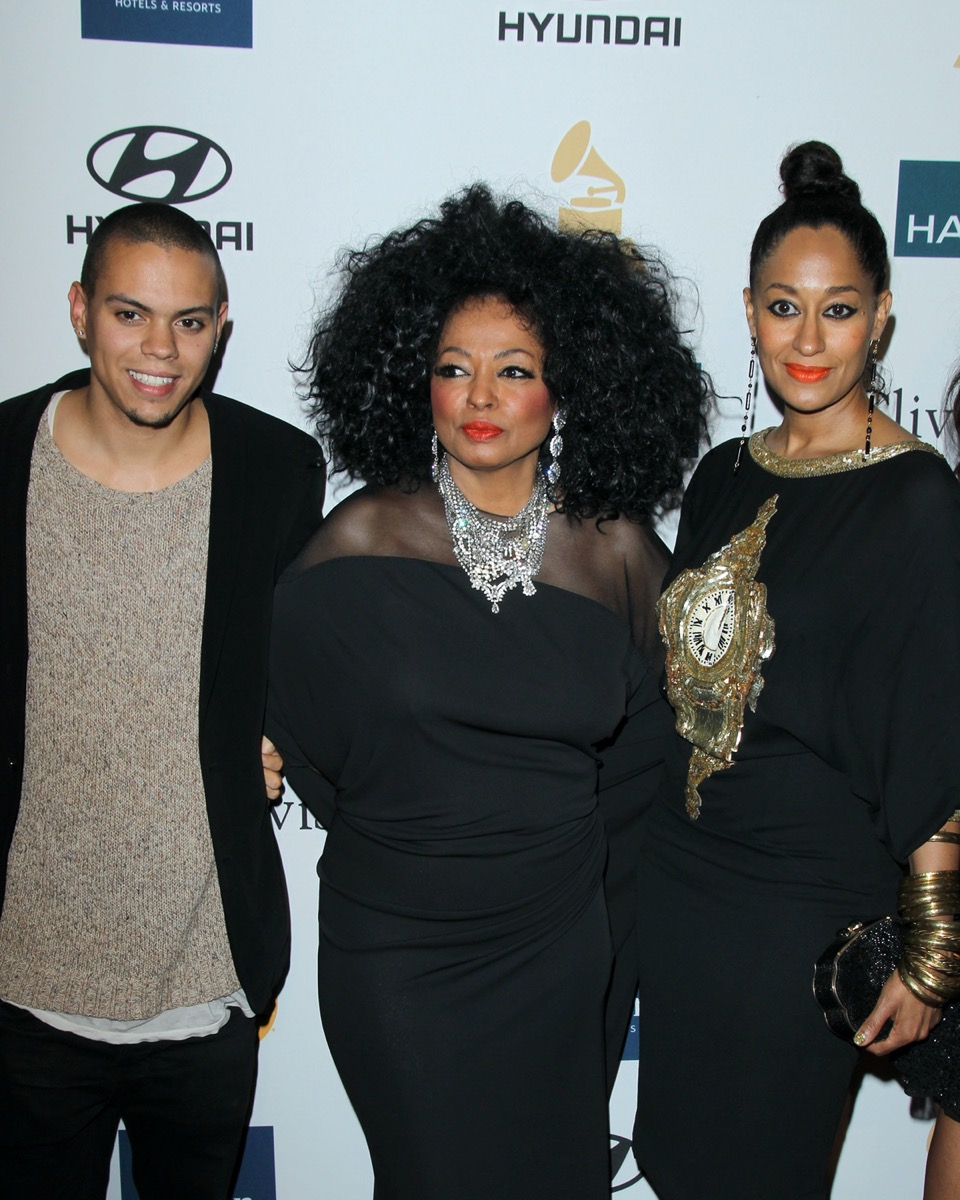 Evan, Diana, and Tracee Ellis Ross