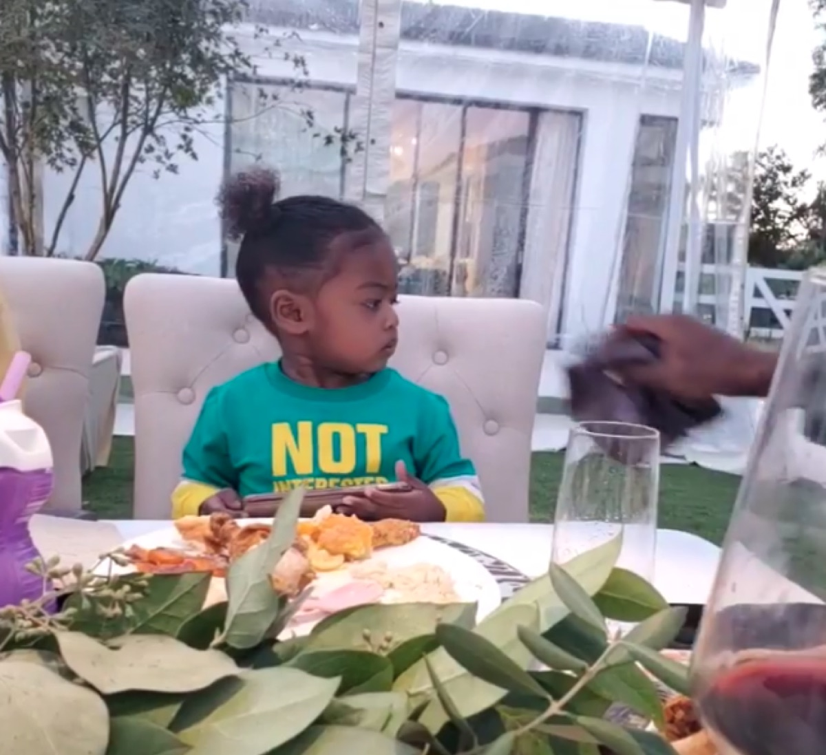 Gabrielle Union's daughter on Thanksgiving