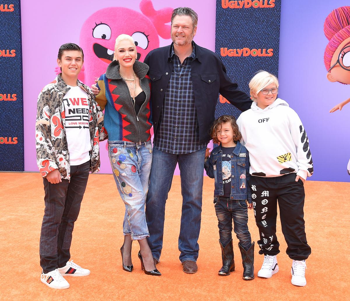 Gwen Stefani, Blake Shelton, kids