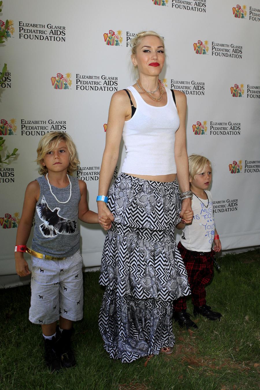Gwen Stefani with kids 2012