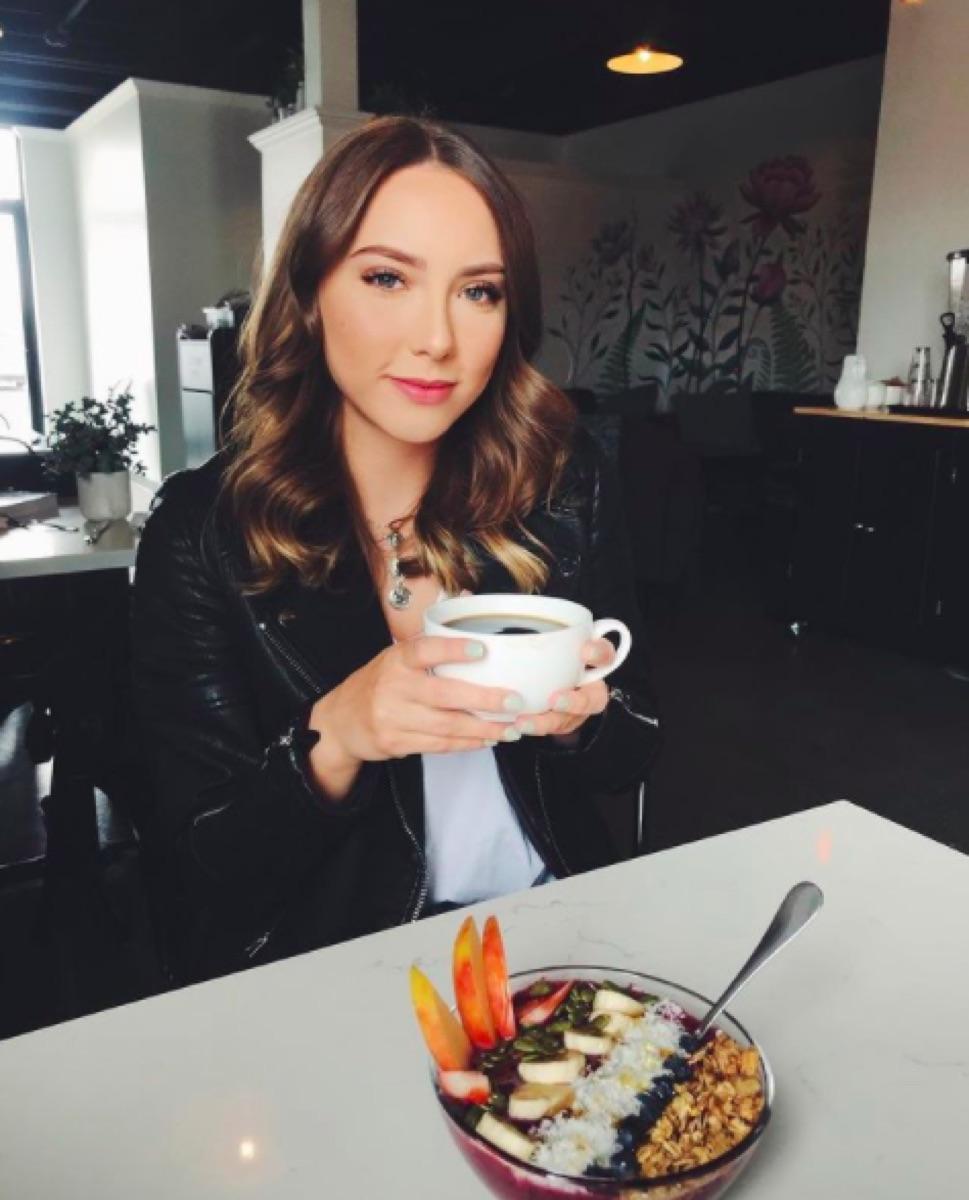 Hailie Jade coffeeshop Instagram
