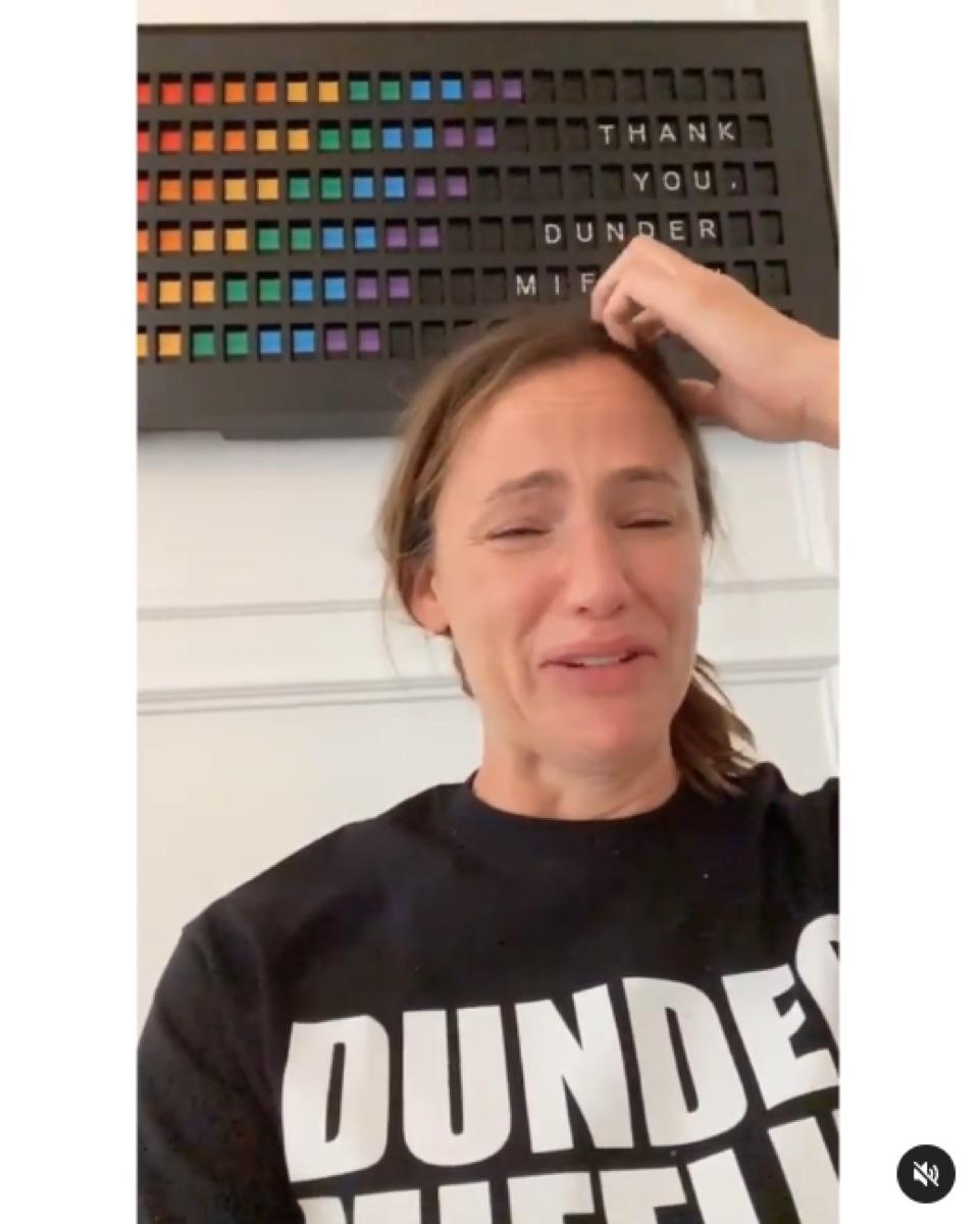 "Jennifer Garner ""The Office"" Instagram video"