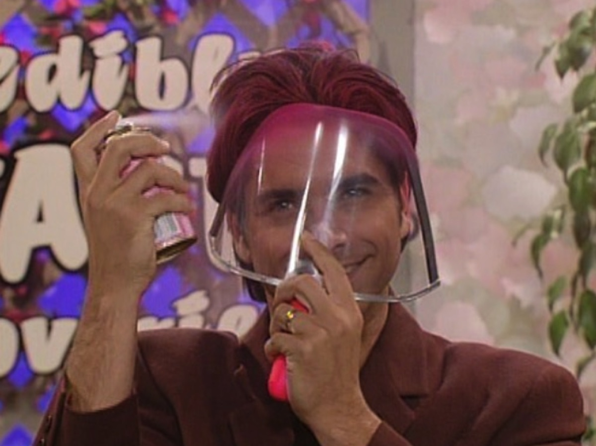 """Uncle Jesse using face shield on """"Full House"""""""