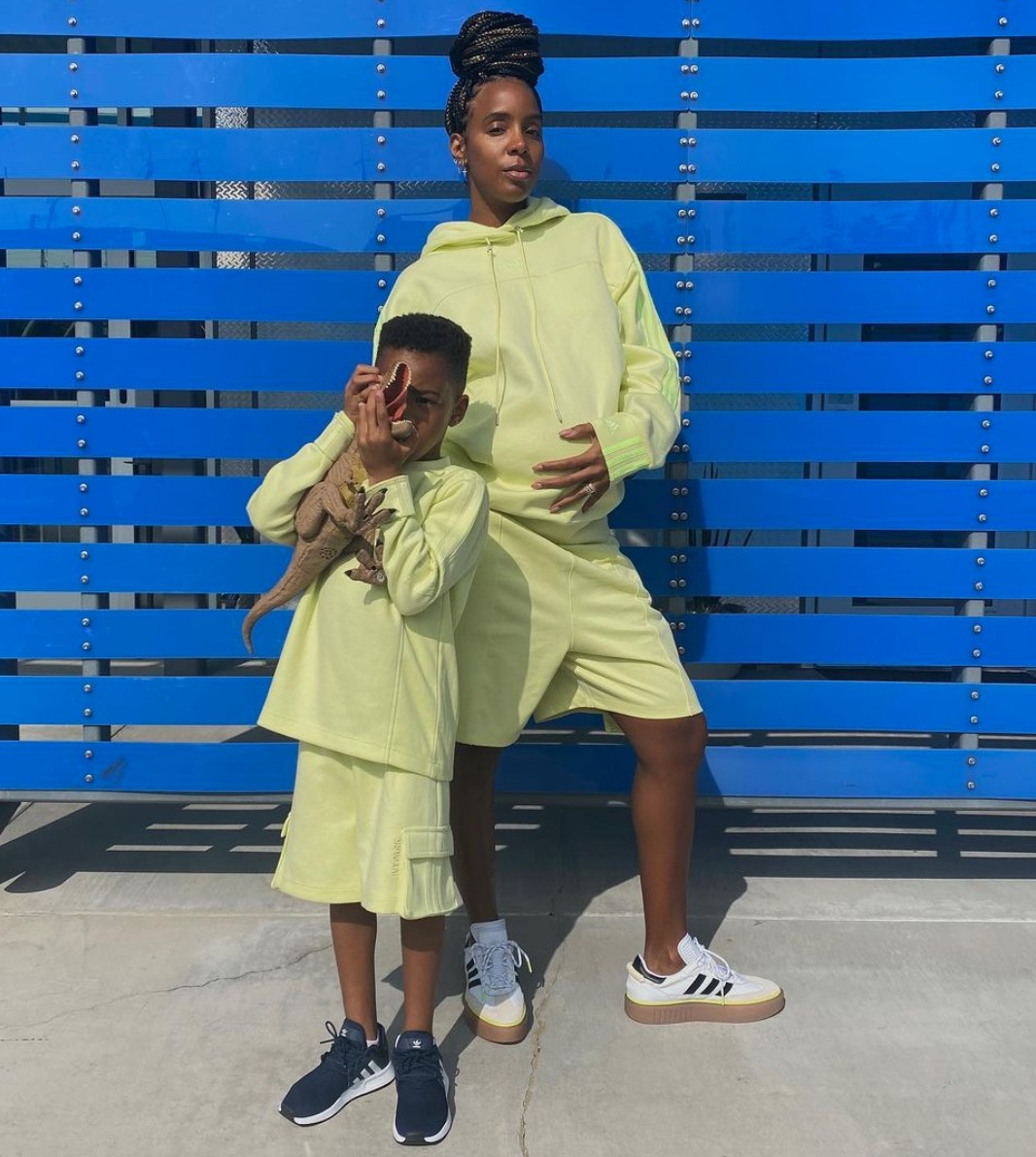 Kelly Rowland and son