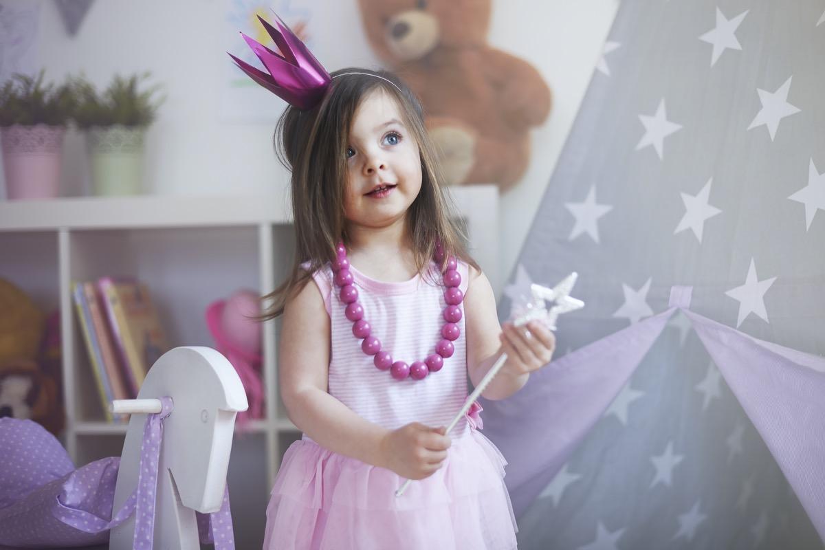 Little girl dressed as fairy princess