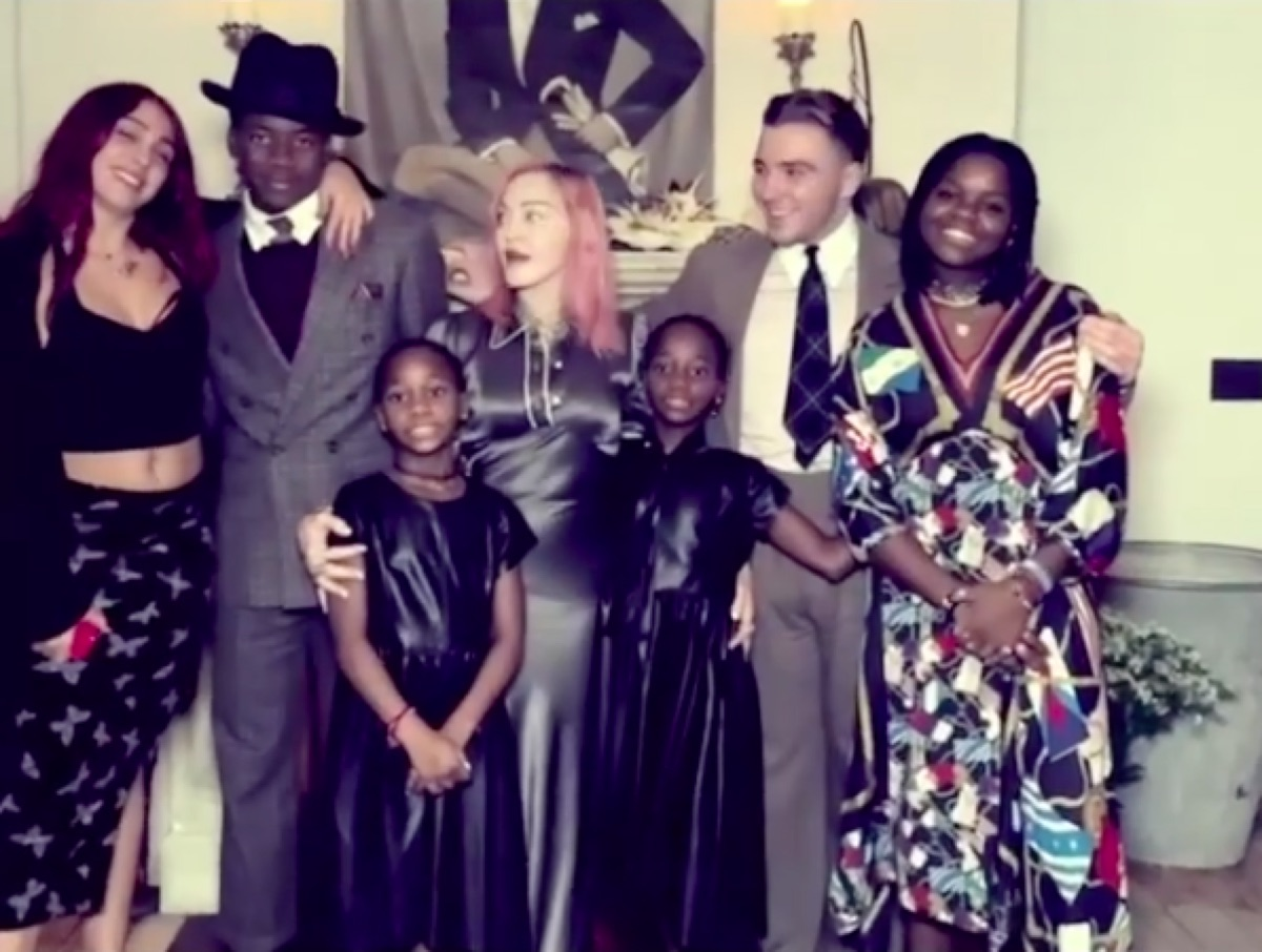 Madonna family photo from Instagram