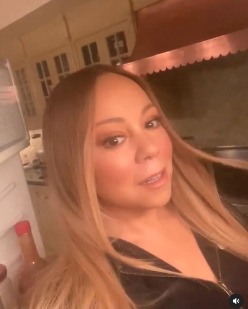 Mariah Carey refrigerator selfie