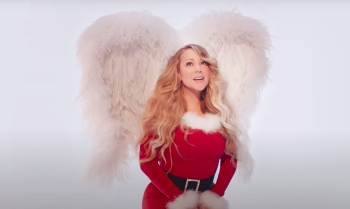 """Mariah Carey in the video for """"All I Want for Christmas Is You (Make My Wish Come True Edition)"""""""