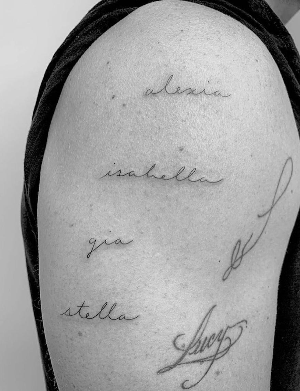 Matt Damon tattoo