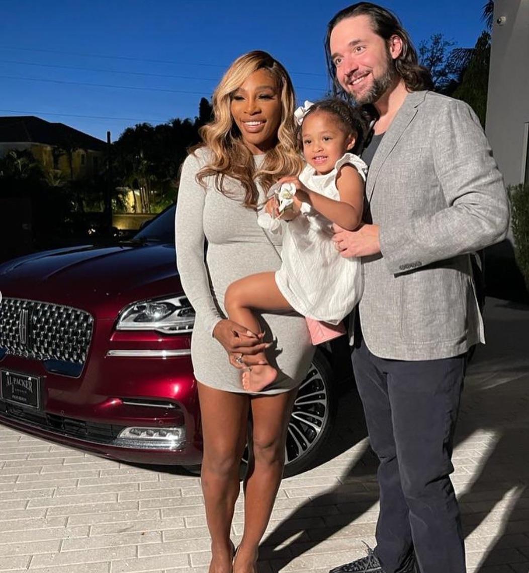 Serena Williams, Alexis Ohanian family pic