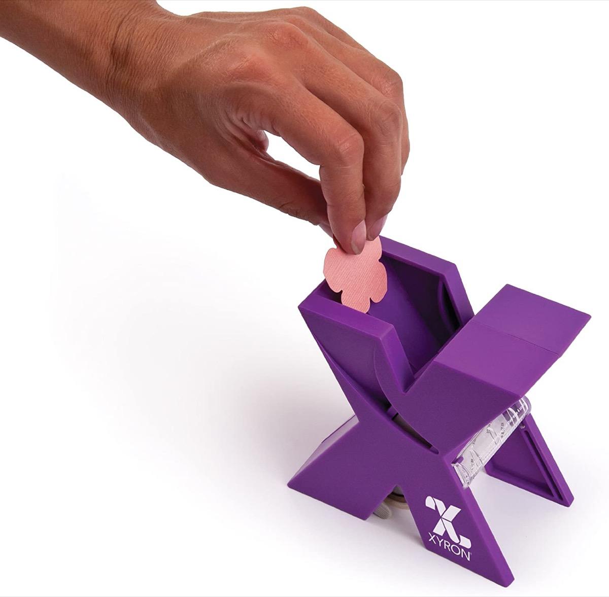Purple sticker maker