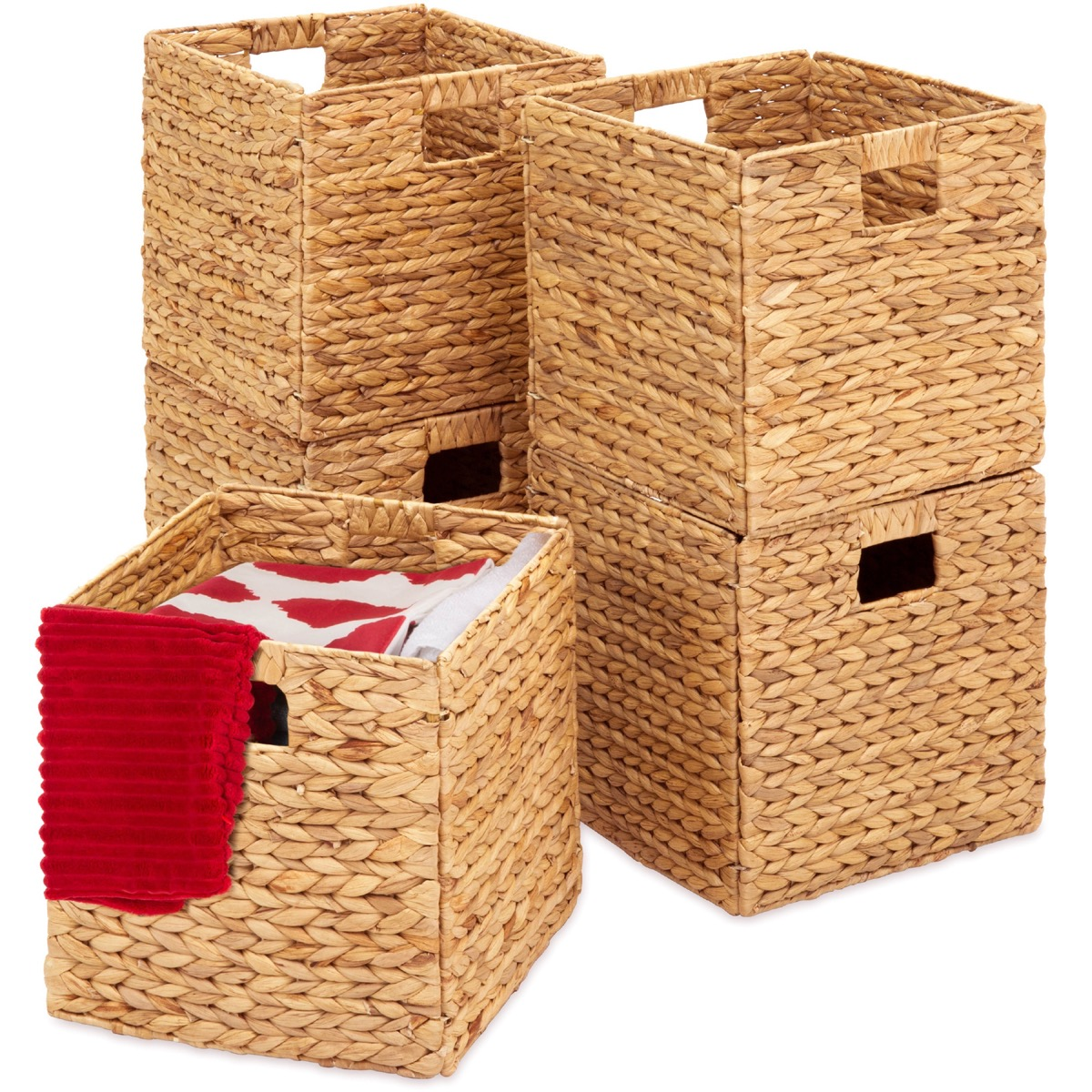 Natural fiber storage cubes