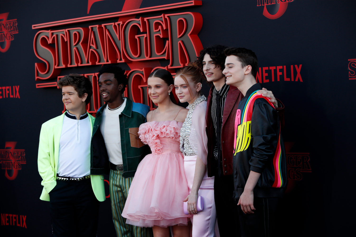 Stranger Things cast at the season 3 premiere