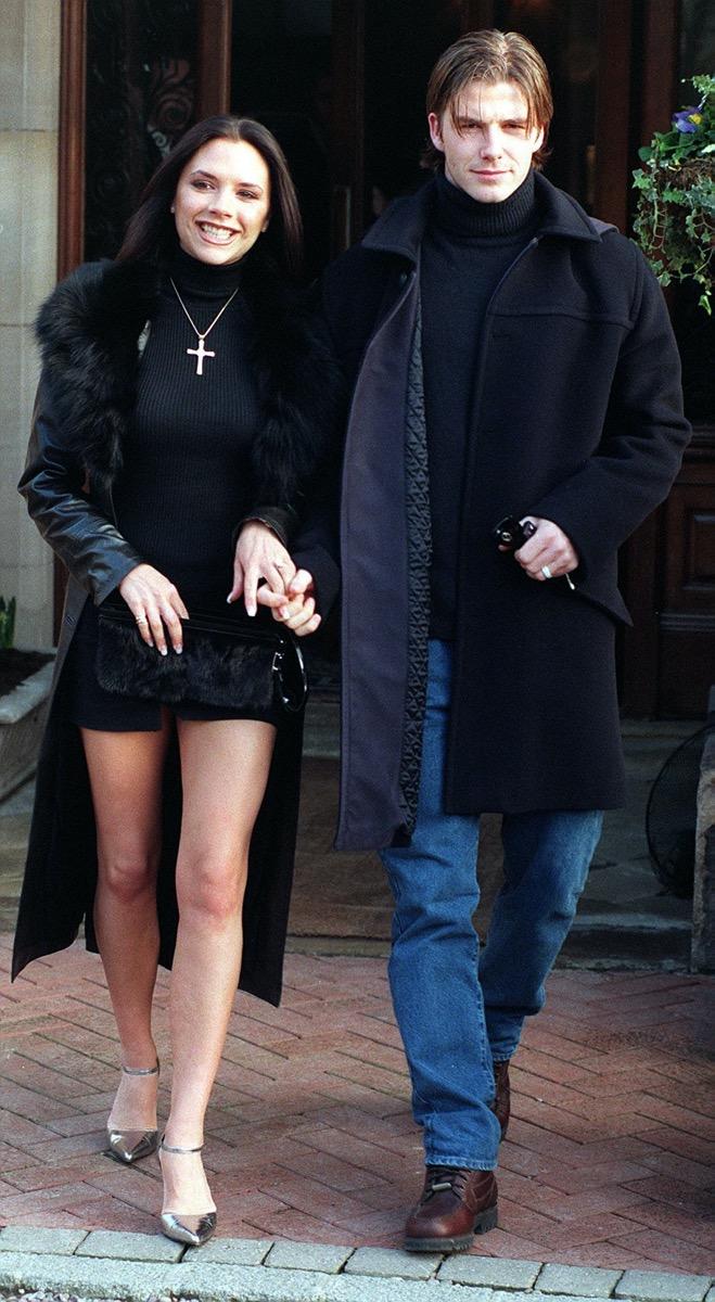 Victoria and David Beckham in 1998