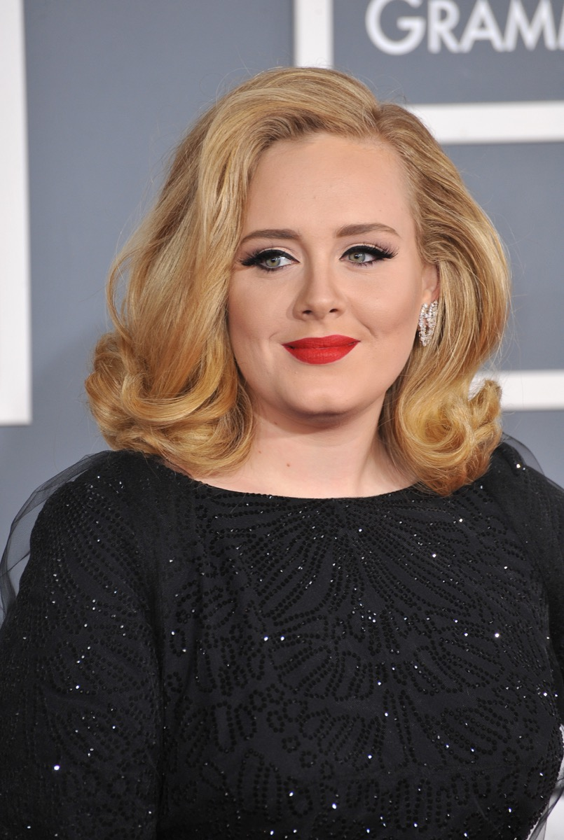 Adele at the Grammy Awards in 2012
