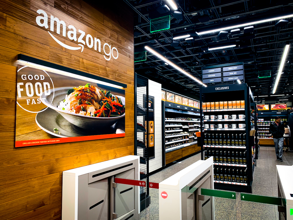 Amazon Go grocery store that requires no check out and no lines
