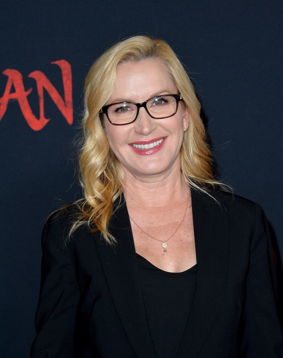 Angela Kinsey at the world premiere of 'Mulan' in 2020