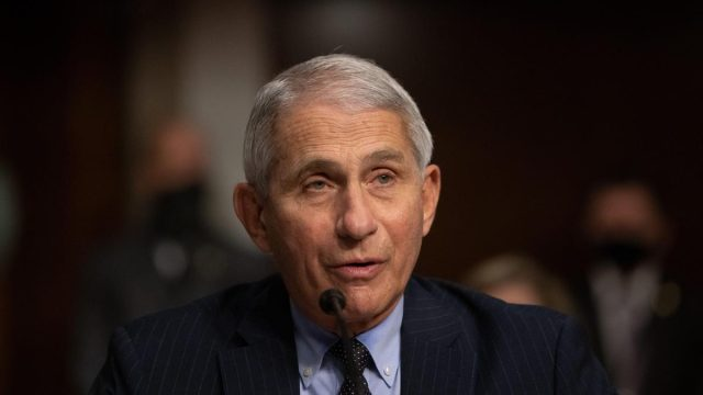 Anthony Fauci, director of National Institute of Allergy and Infectious Diseases at NIH, testifies at a Senate Health, Education, and Labor and Pensions Committee on Capitol Hill, in Washington, Wednesday, October 23, 2020,