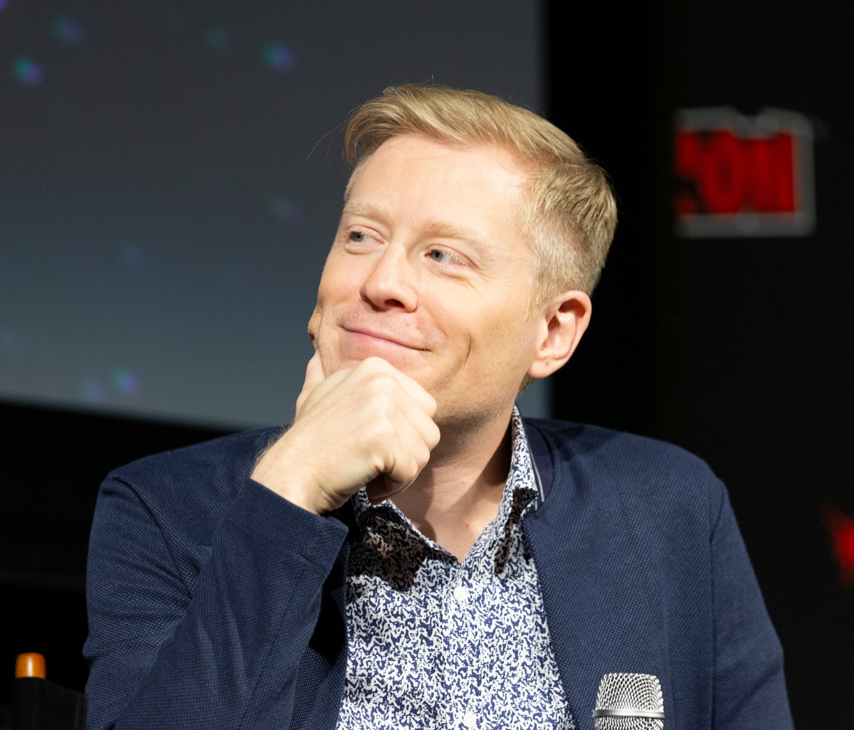 Anthony Rapp at the Star Trek discovery panel in 2018