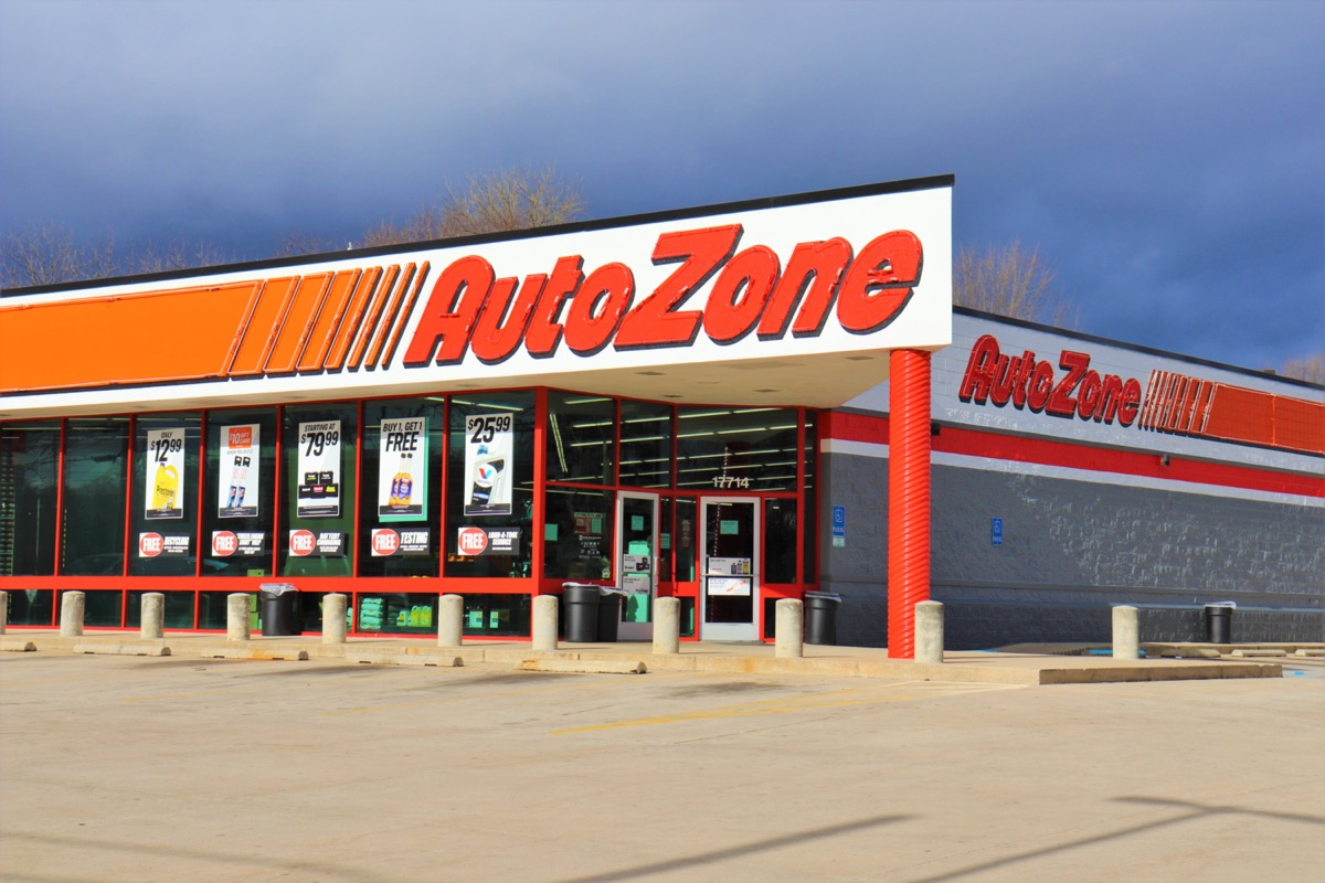 the outside of an AutoZone store in Hagerstown, Maryland
