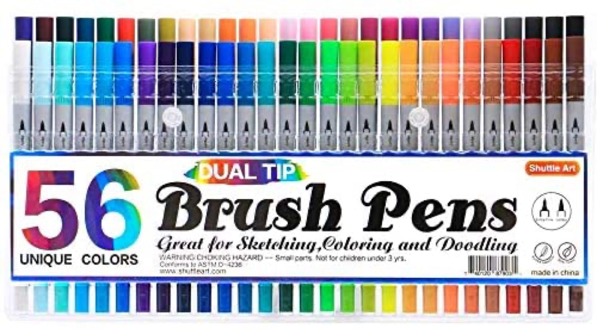 colorful set of brush pen markers