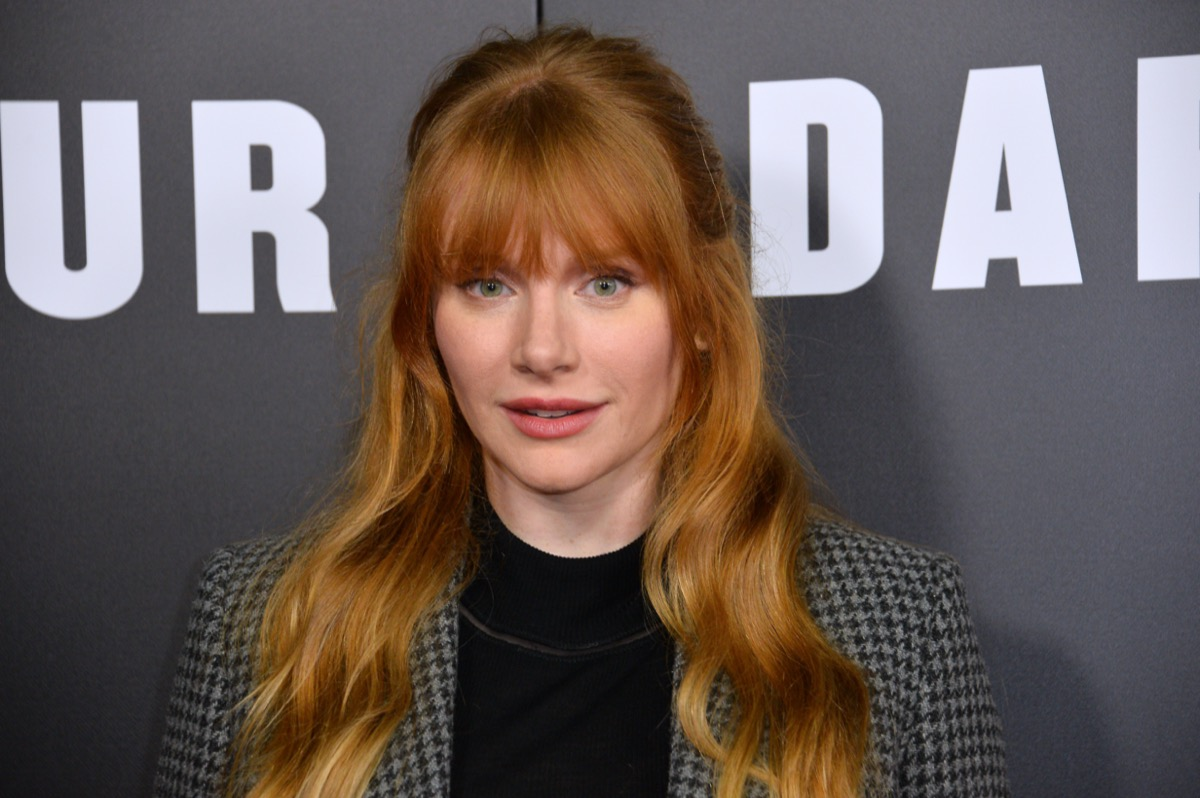 Bryce Dallas Howard at the premiere of 'Darkest Hour' in 2017