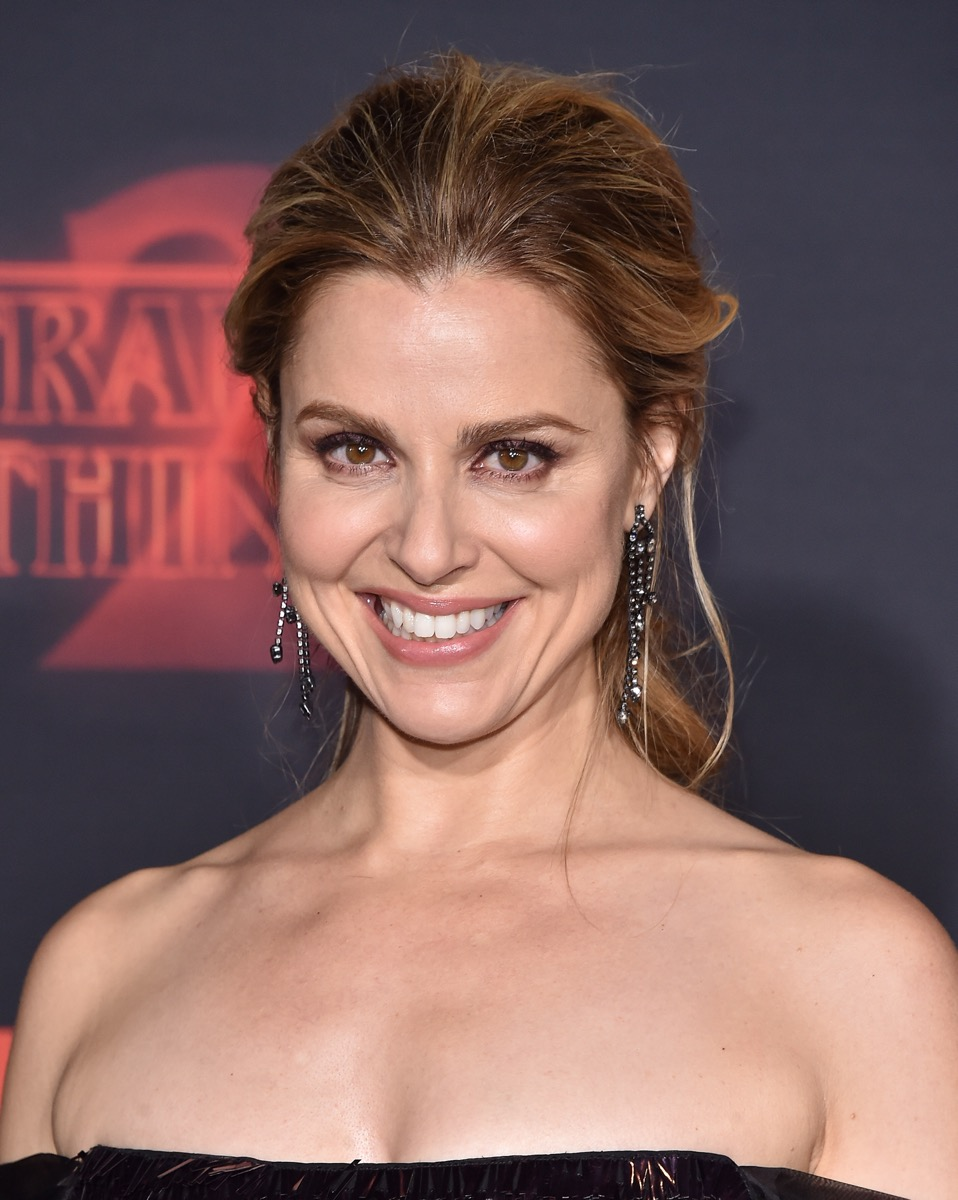 Cara Buono at the premiere of 'Stranger Things 2' in 2017