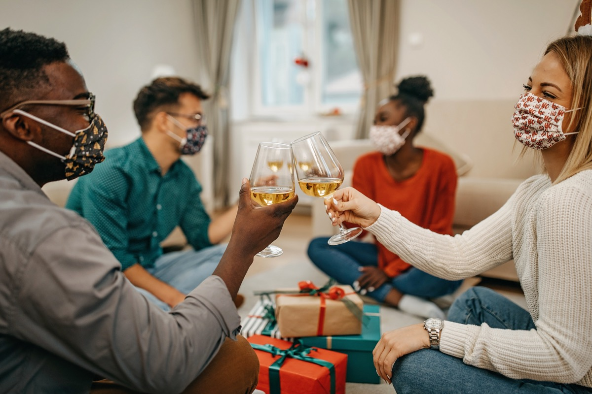 Young millenials celebrate New Year