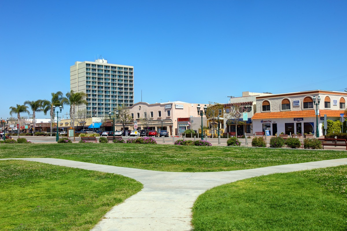 cityscape photo of shops and the downtown area of Chula Vista, California