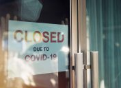 Closed for COVID sign