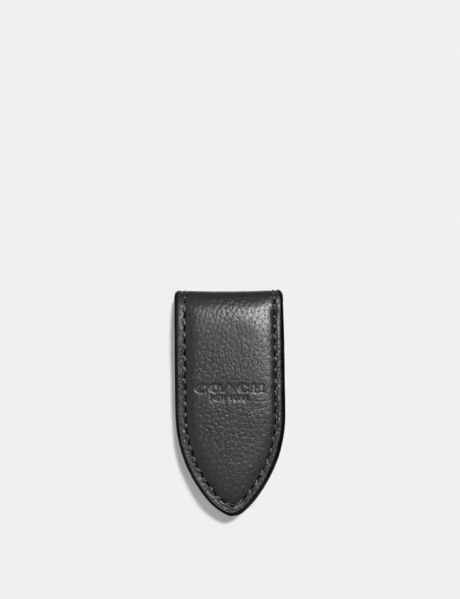 black coach money clip
