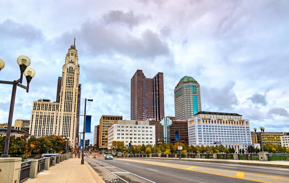 cityscape photo of downtown Columbus, Ohio