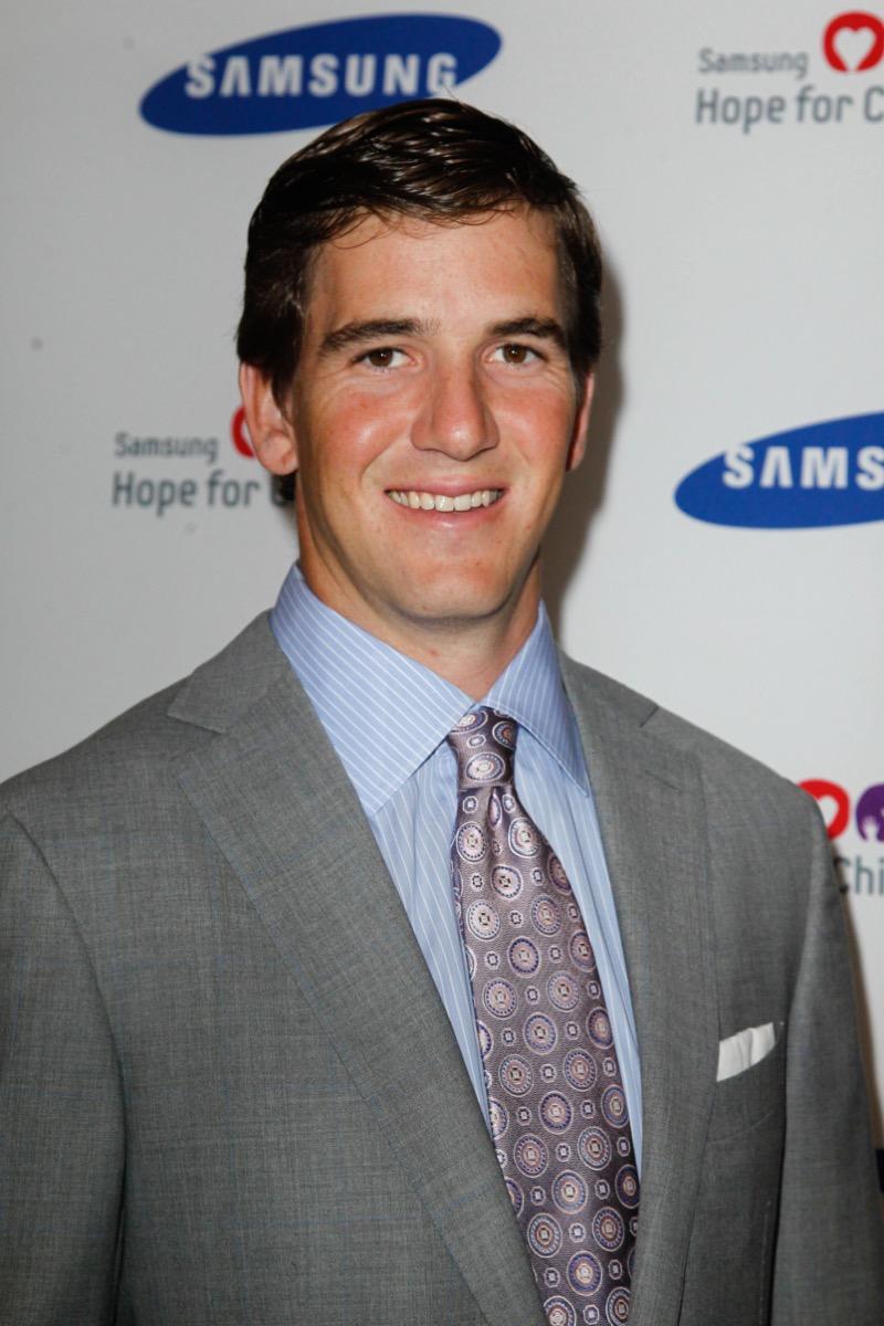 Eli Manning at Samsung's Hope for Children Gala in 2012