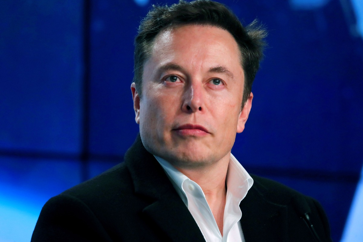 Elon Musk at a post-launch news conference in 2019