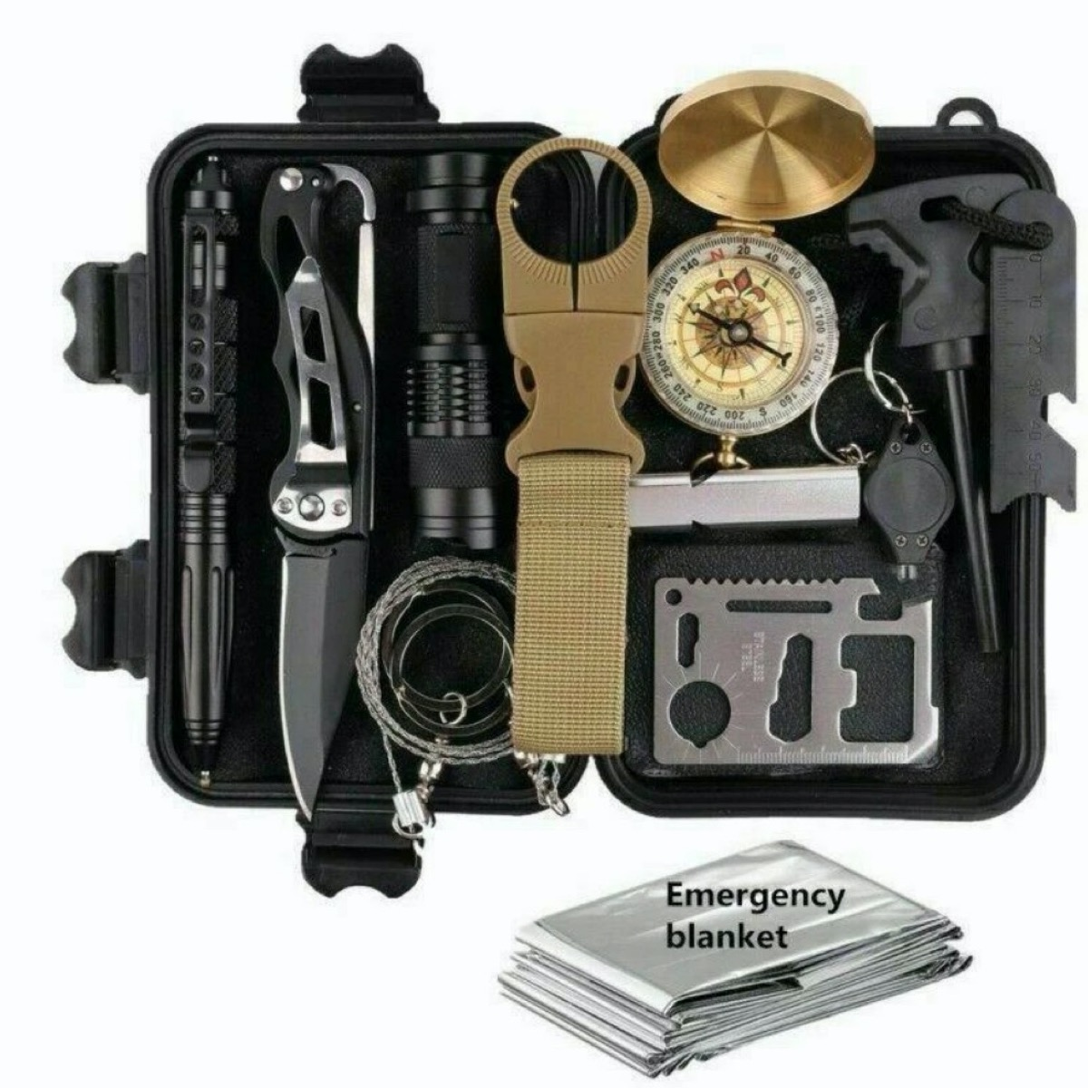 black box full of tactical gear