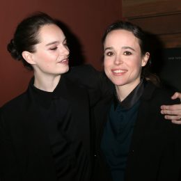 """Elliot Page and wife Emma Portner at """"The Cured"""" LA Screening at Sunset 5 Theater on February 20, 2018 in West Hollywood, CA"""