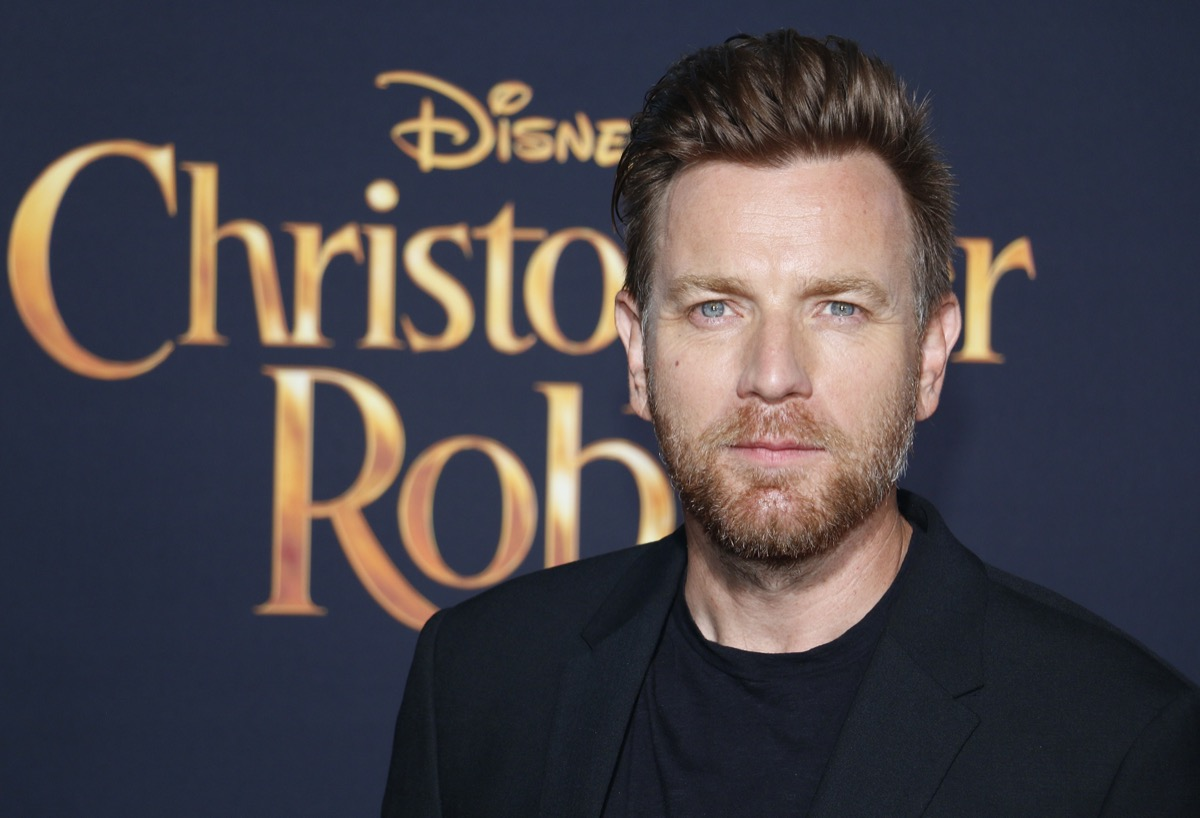 Ewan McGregor at the premiere of 'Christopher Robin' in 2018